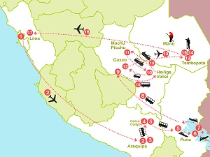 Route 6: Van de Hoge Andes naar de Groene Amazone