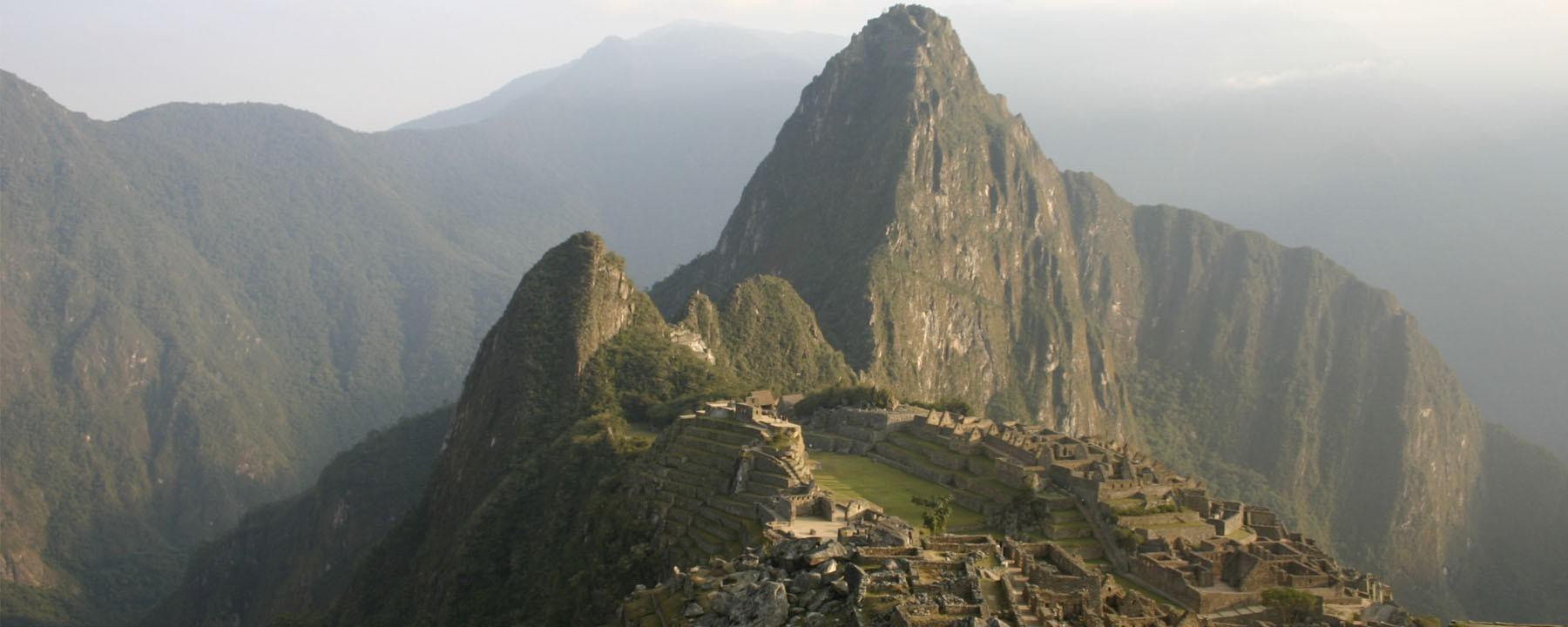 Klassieke foto van Machu Picchu