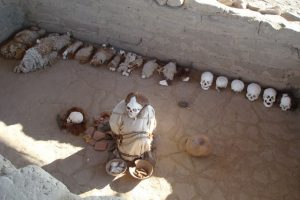 chauhilla mummies in oorspronkelijke graven